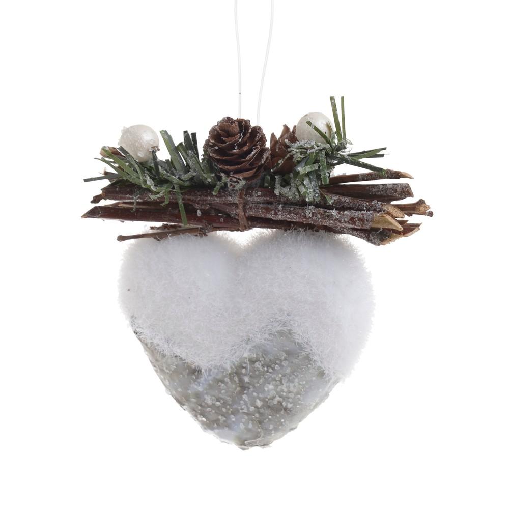 Vianočná ozdôba v tvare srdiečka InArt Heart