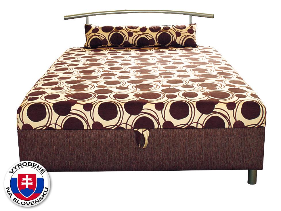 Manželská posteľ 140 cm Benab Elsona 140 (s roštom, matracom a snímateľným vankúšom)