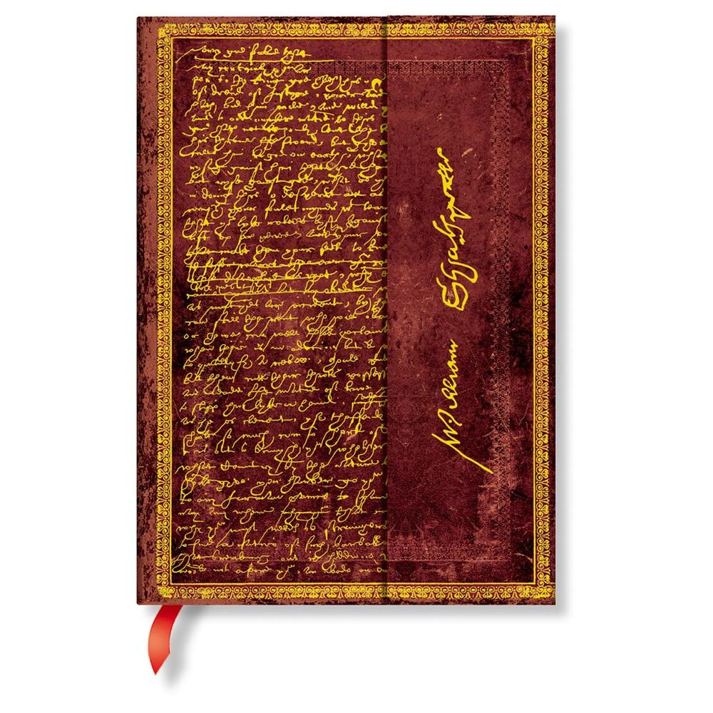 Linkovaný zápisník s tvrdou väzbou Paperblanks Shakespeare, 13 x 18 cm