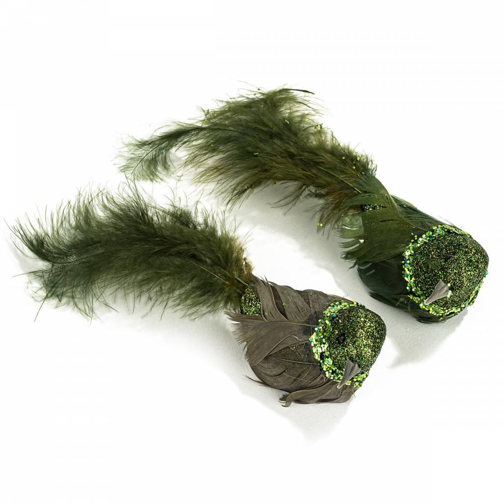 Koopman Vianočná dekorácia Birds 2 ks, zelená