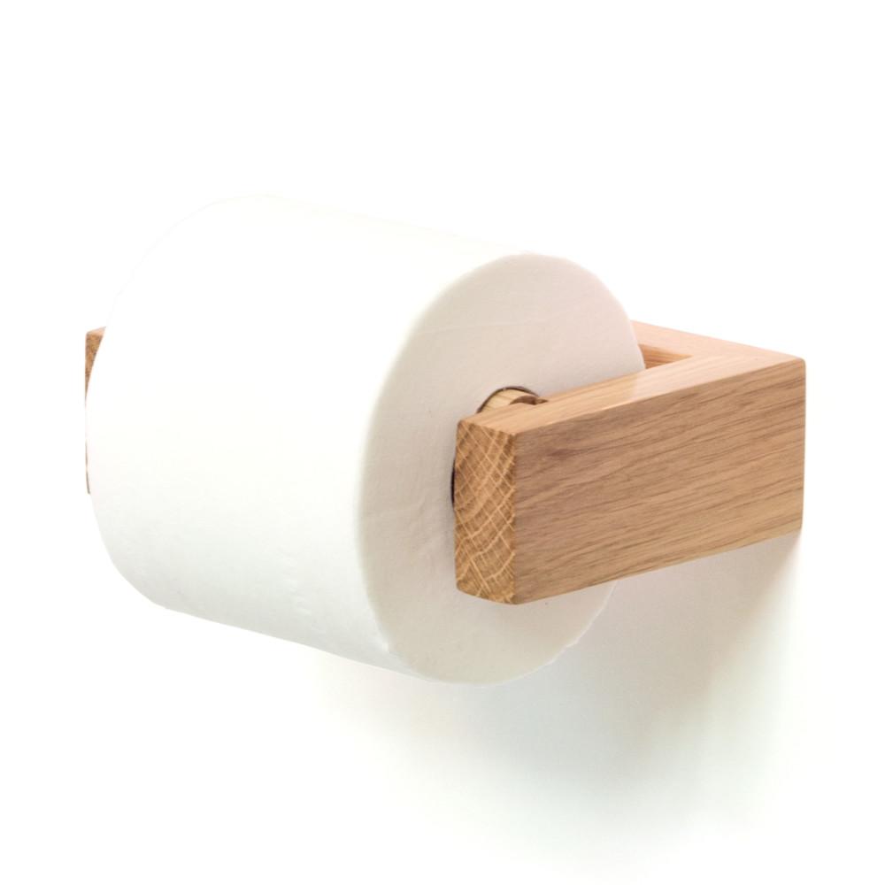 Drevený nástenný držiak na toaletný papier Wireworks Mezza