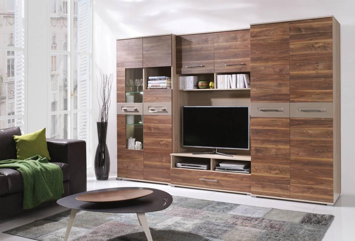 Veľká obývacia stena ERICA, sonoma/saleve + LED ZDARMA!