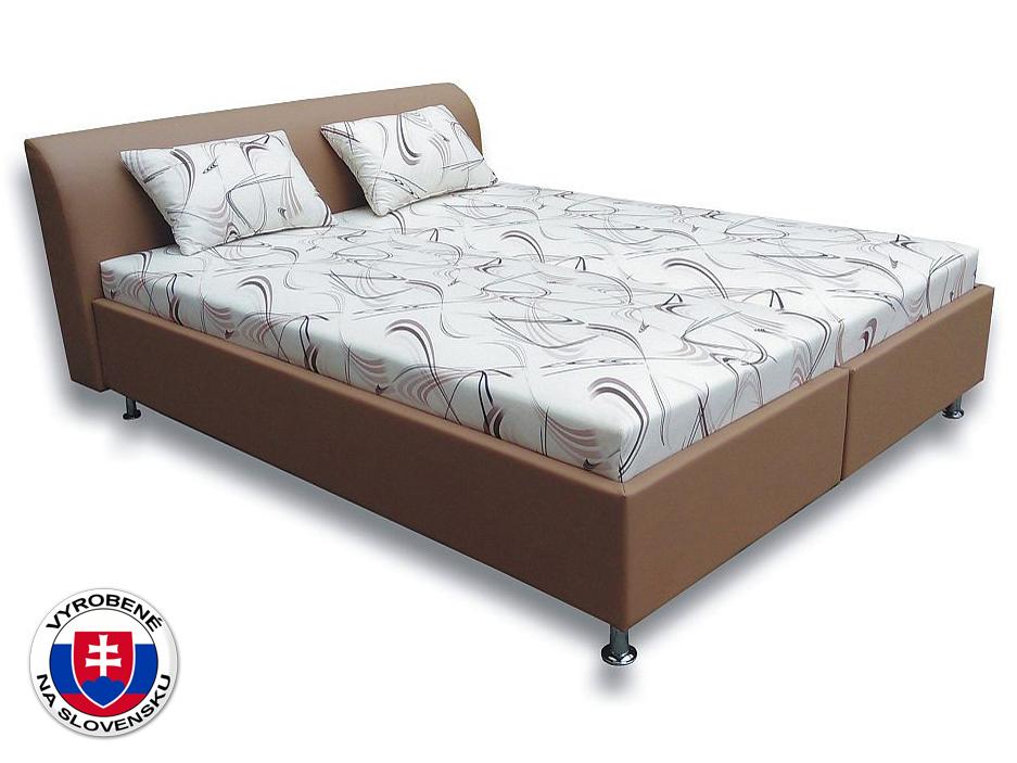 Manželská posteľ 160 cm Rita 2 (s pružinovými matracmi)
