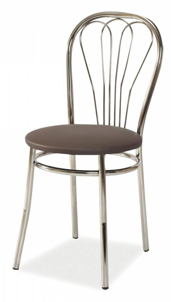 Jedálenská stolička K-1, hnedá