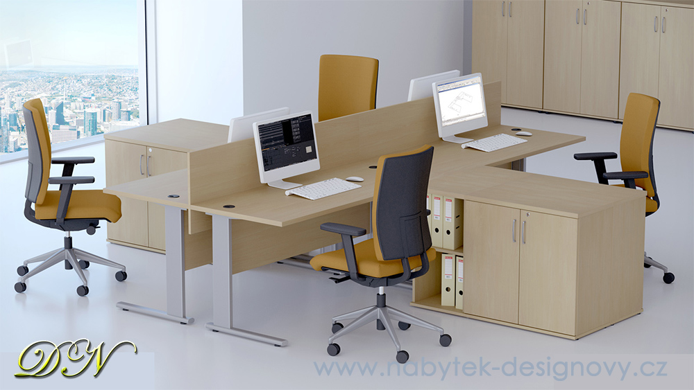 Rauman Zostava kancelárskeho nábytku Visio 4 javor R111004 12