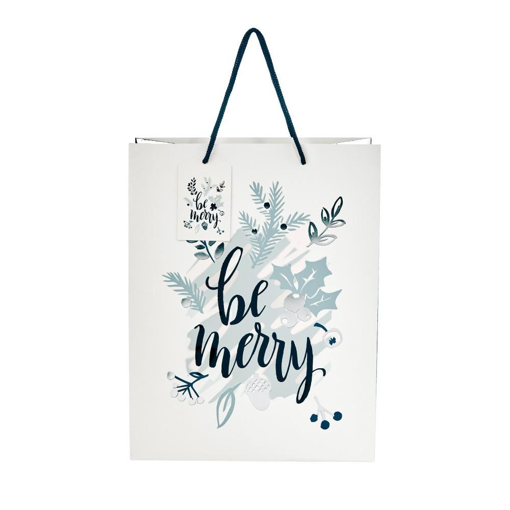 Darčeková taška Butlers Be Merry, výška 13,5 cm