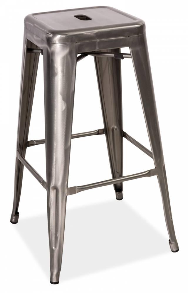 >> LANG barová stolička, kartáčovaná oceľ