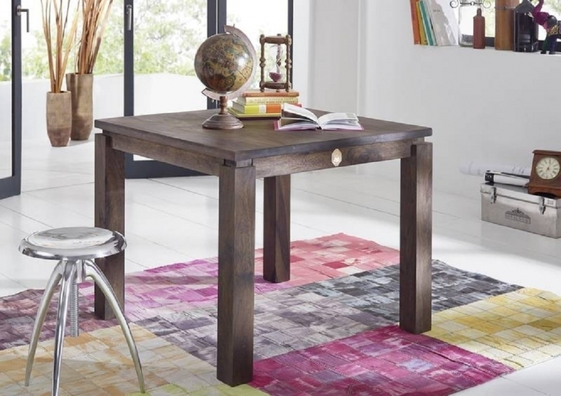 METRO POLIS #151 Sheesham jedálenský stôl 90x90, masívne palisandrové drevo