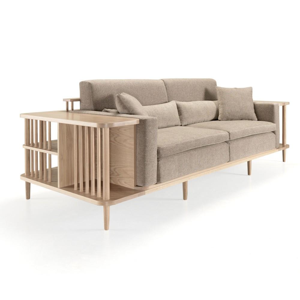 Pohovka s úložným priestorom z dubového dreva Wewood - Portugues Joinery Scaffold