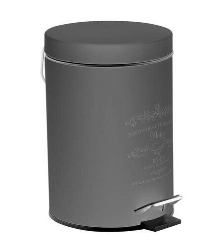 Florina Kozmetický odpadkový kôš Sweet Home 3 l, šedá