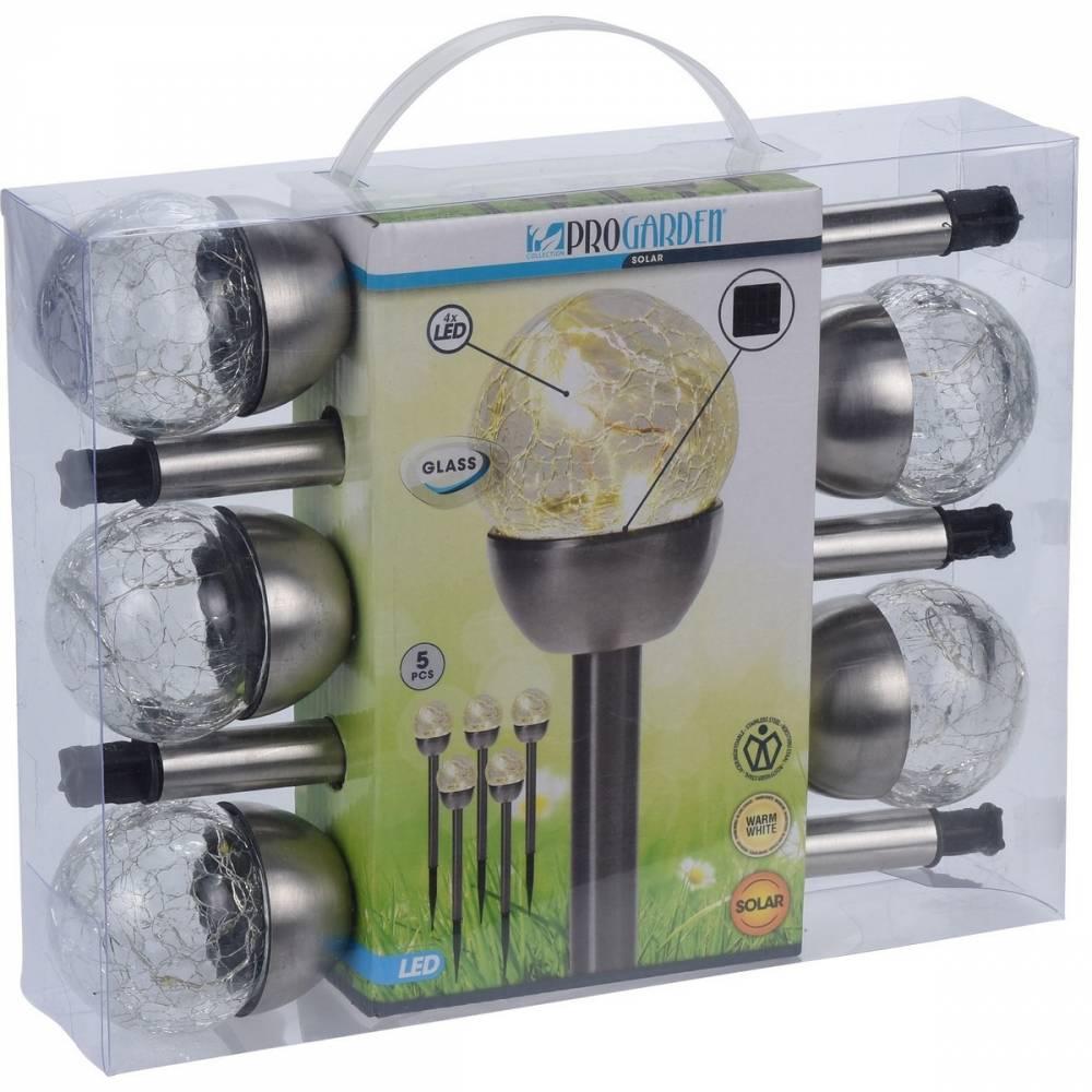 Sada solárních LED lámp Darell, 5 ks