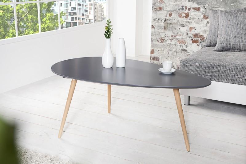 Konferenčný stolík SCANIA MEISTER 115 cm - sivá