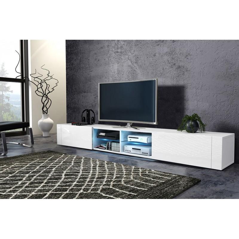 TV stolík/skrinka Best dvojitý (biela + lesk biely)