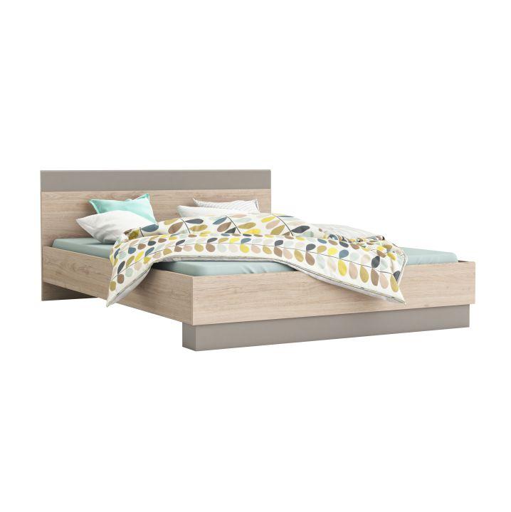 Manželská posteľ 160 cm Graphic (dub arizona + sivá)