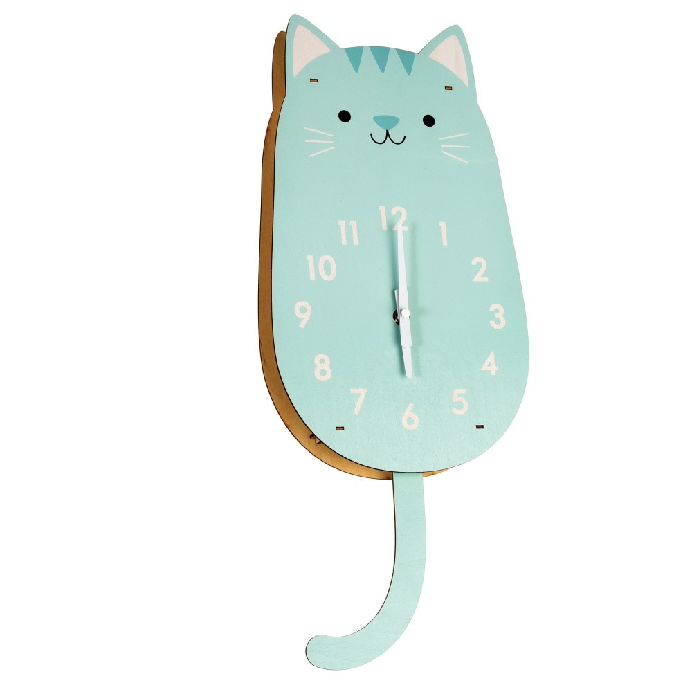 Drevené hodiny Rex London Cookie The Cat