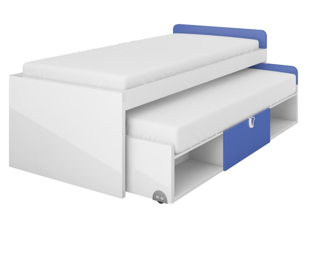 Detská dvoj posteľ Yeti Y-14 + 15   Farba: Biela / biela lesk / grafit