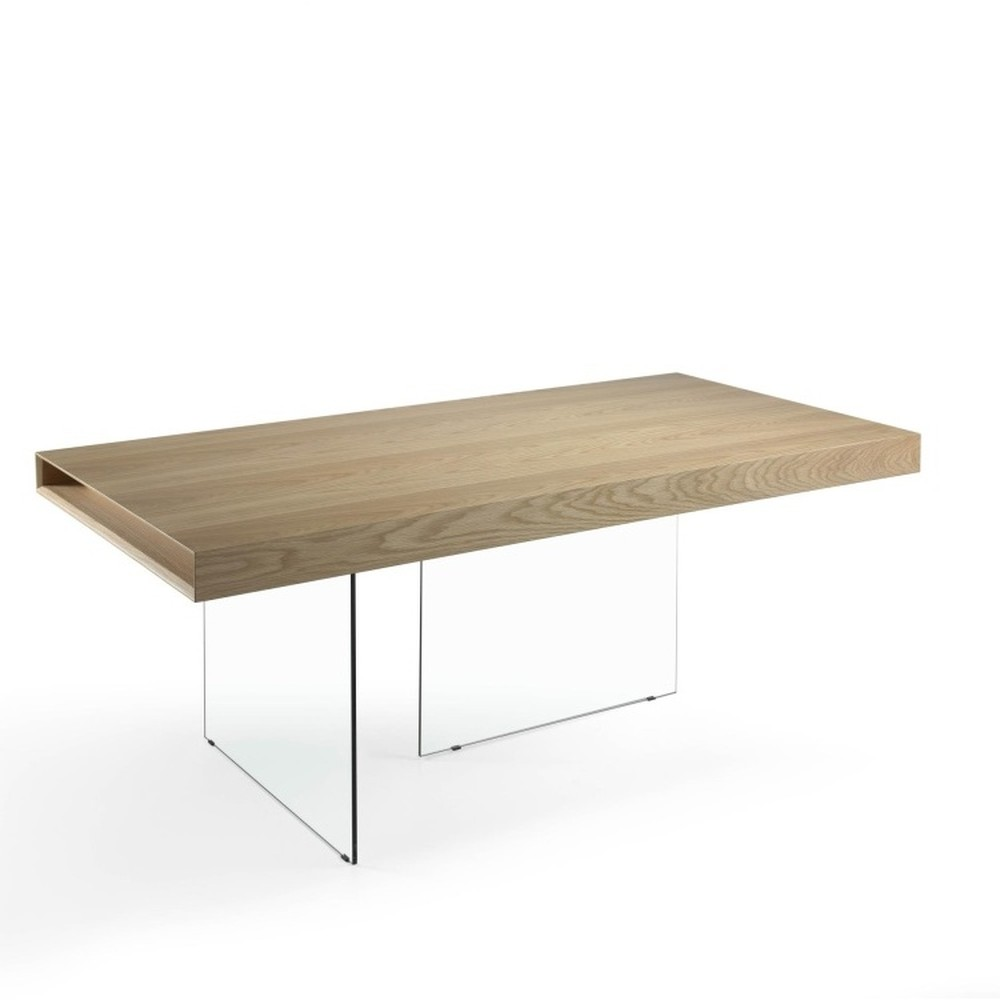 Jedálenský stôl zo skla a kovu Ángel Cerdá Americana