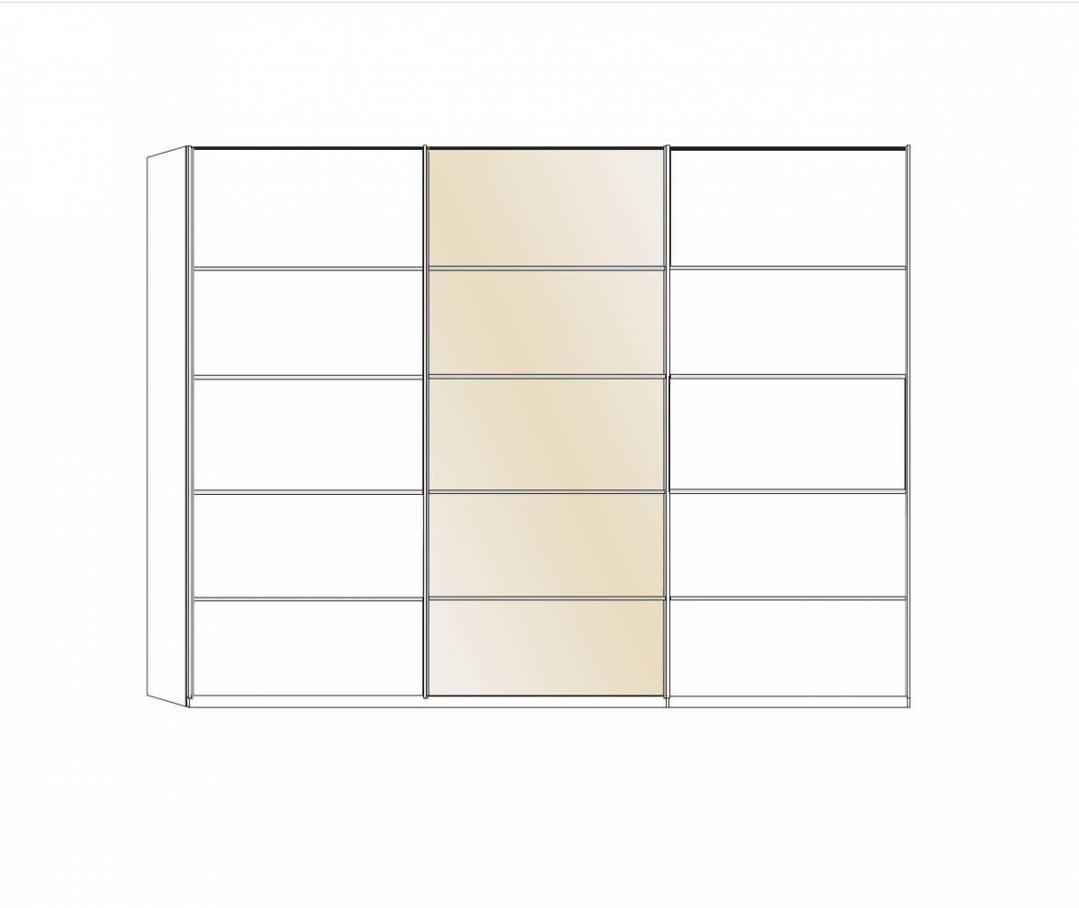 Trojdverová skriňa s posuvnými dverami IBIZA 421 480, zrkadlo