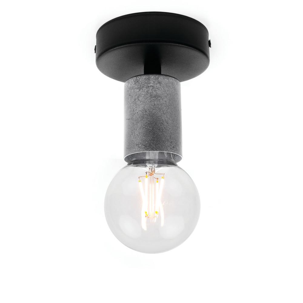 Strieborné stropné svetlo Bulb Attack Cero