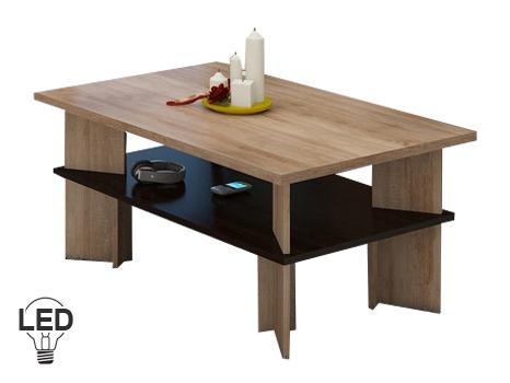 Konferenčný stolík Vectra 2 (sonoma svetlá + tmavá)