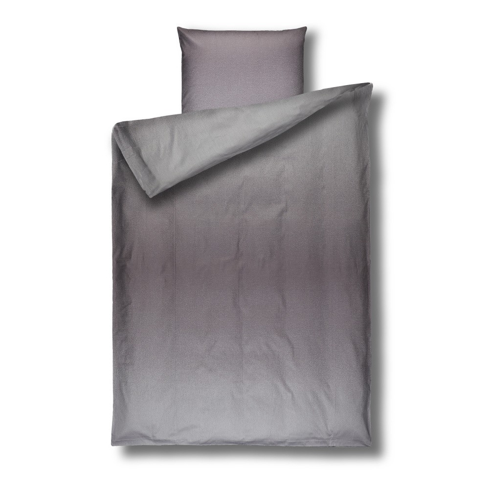Sivé damaškové obliečky Casa Di Bassi Basic, 155×200 cm