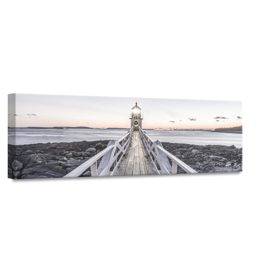 Obraz Styler Canvas By The Sea Beacon View II, 45 × 140 cm