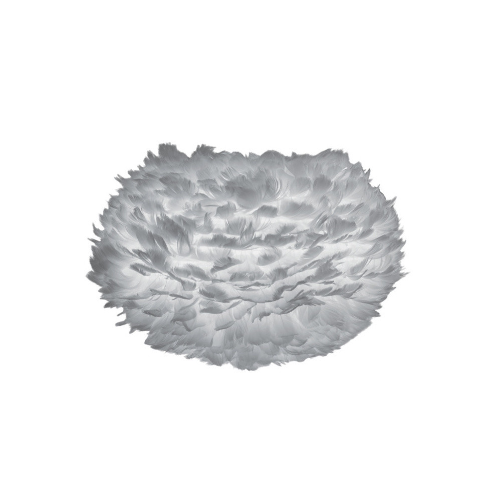 Sivé svietidlo z husieho peria VITA Copenhagen EOS, Ø 30 cm