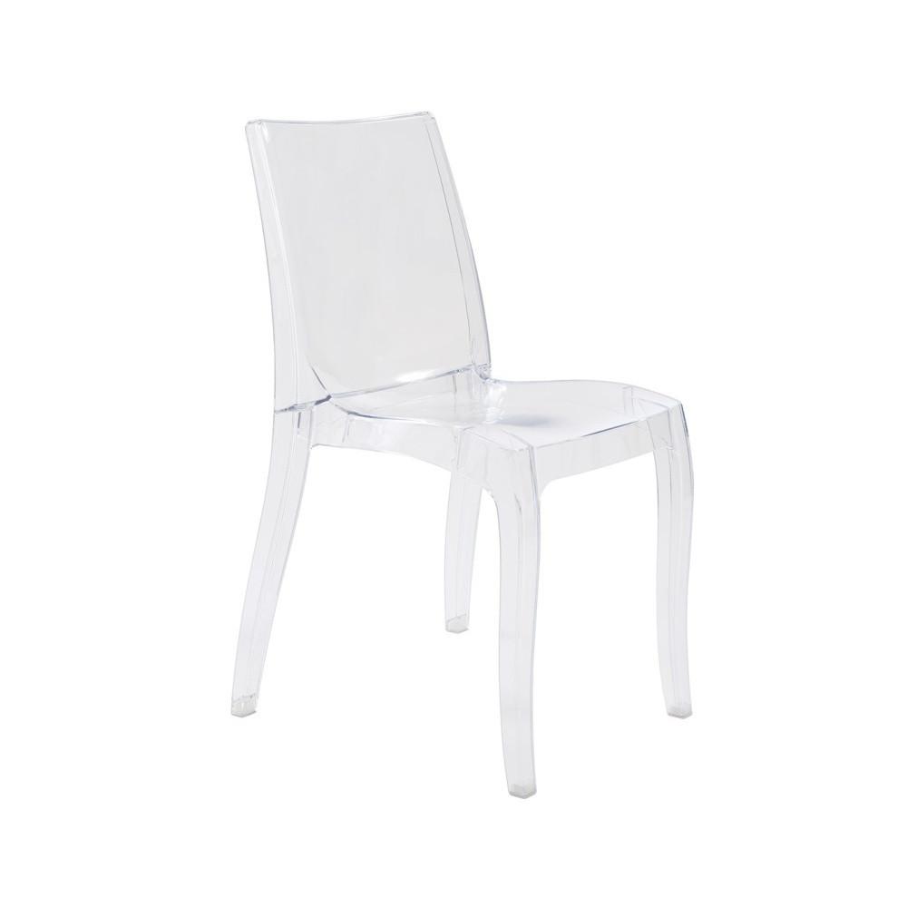 Transparentná stolička Esidra Gerardo