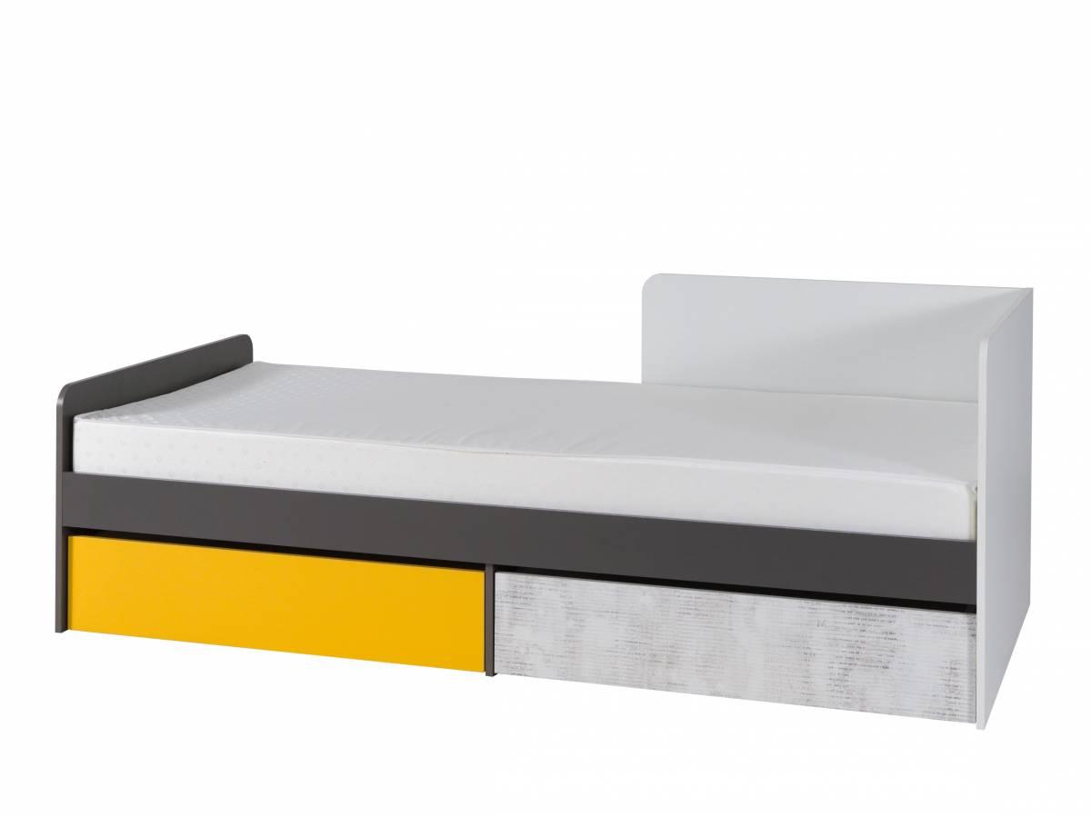 Jednolôžková posteľ 90 cm B7 (s roštom, matracom a úl. priestorom) (P)