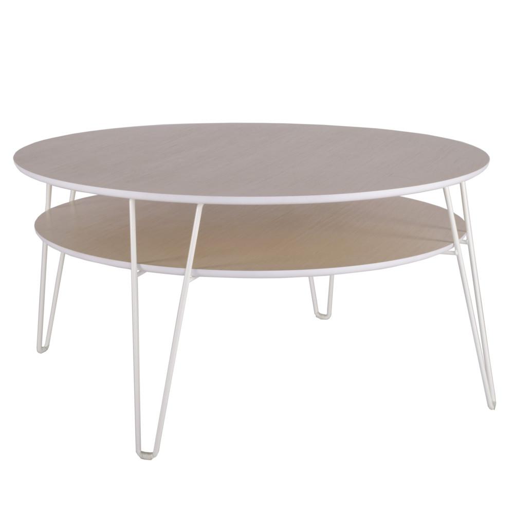 Konferenčný stolík s Bielymi nohami RGE Leon, ⌀ 100 cm