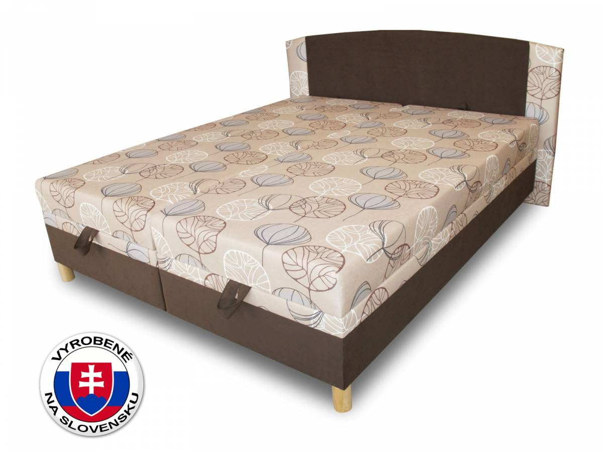 Manželská posteľ 170 cm Benab Luka (s roštami a matracmi)