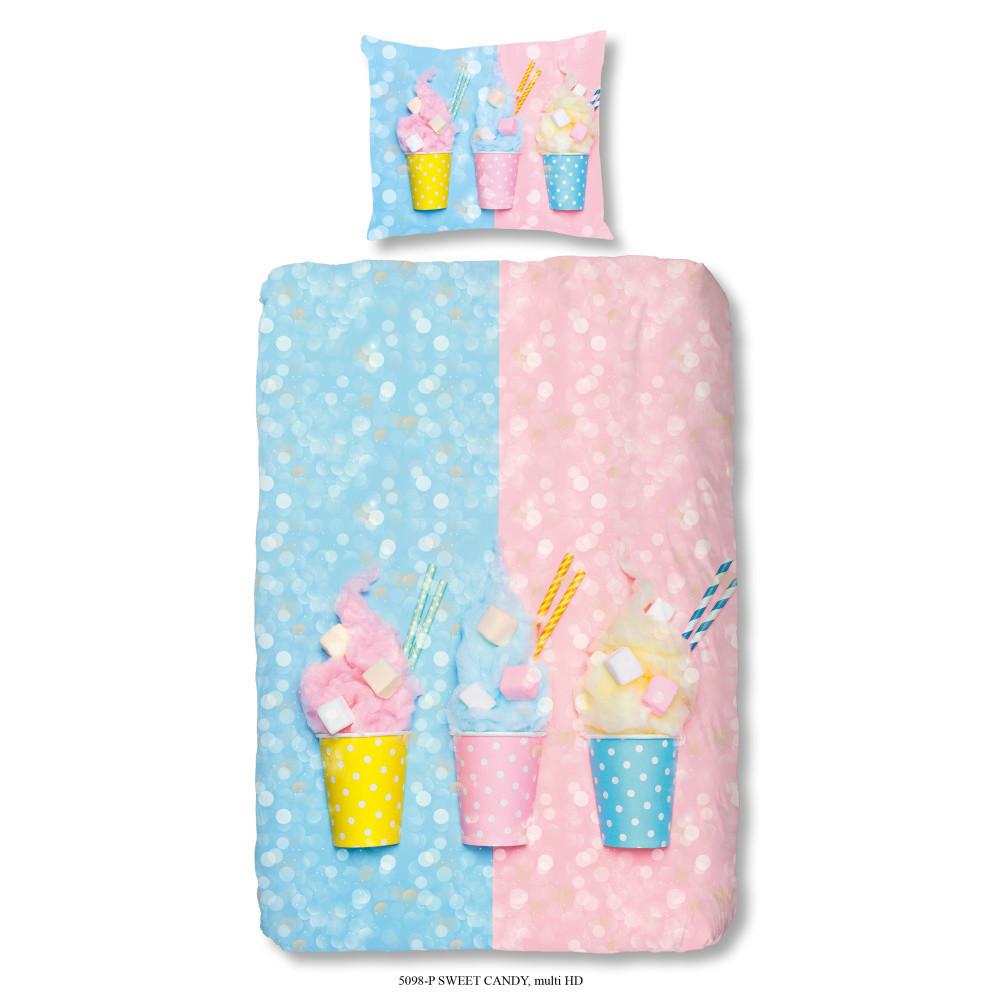 Detské bavlnené obliečky Müller Textiel Sweet Candy, 140x200cm