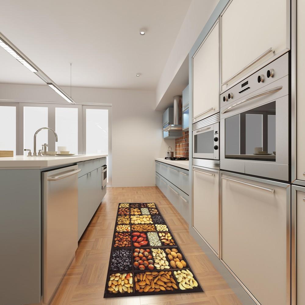 Vysokoodolný kuchynský koberec Semi, 60x220 cm