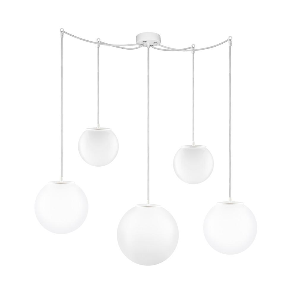 Biele päťramenné závesné svietidlo Sotto Luce Tsuki Small