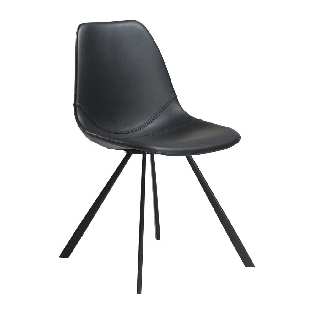 Čierna jedálenská stolička DAN–FORM Pitch