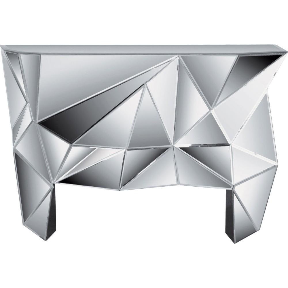 Sklenený konzolový stolík Kare Design Prisma