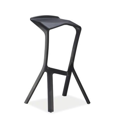 Barová stolička FOLT, čierna