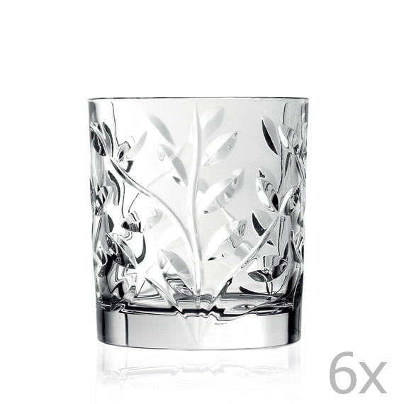 Sada 6 pohárov RCR Cristalleria Italiana Kaya