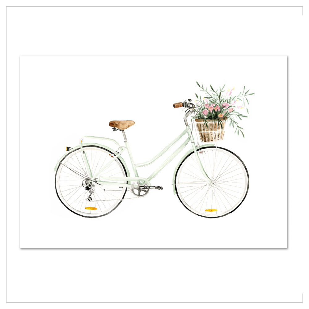 Plagát Leo La Douce Bicycle Love, 21 x 29,7 cm