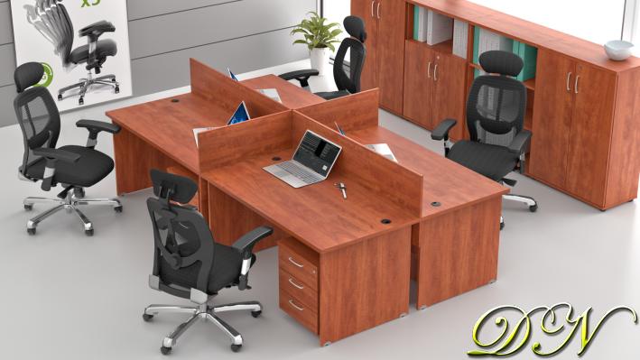 Rauman Zostava kancelárskeho nábytku Visio 4.6, calvados ZE 4.6 03