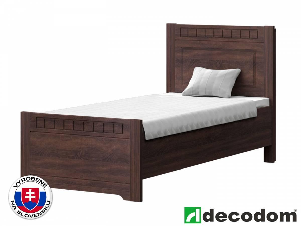 Jednolôžková posteľ 90 cm Decodom Lirot Typ P-90 (dub pílený schoko)