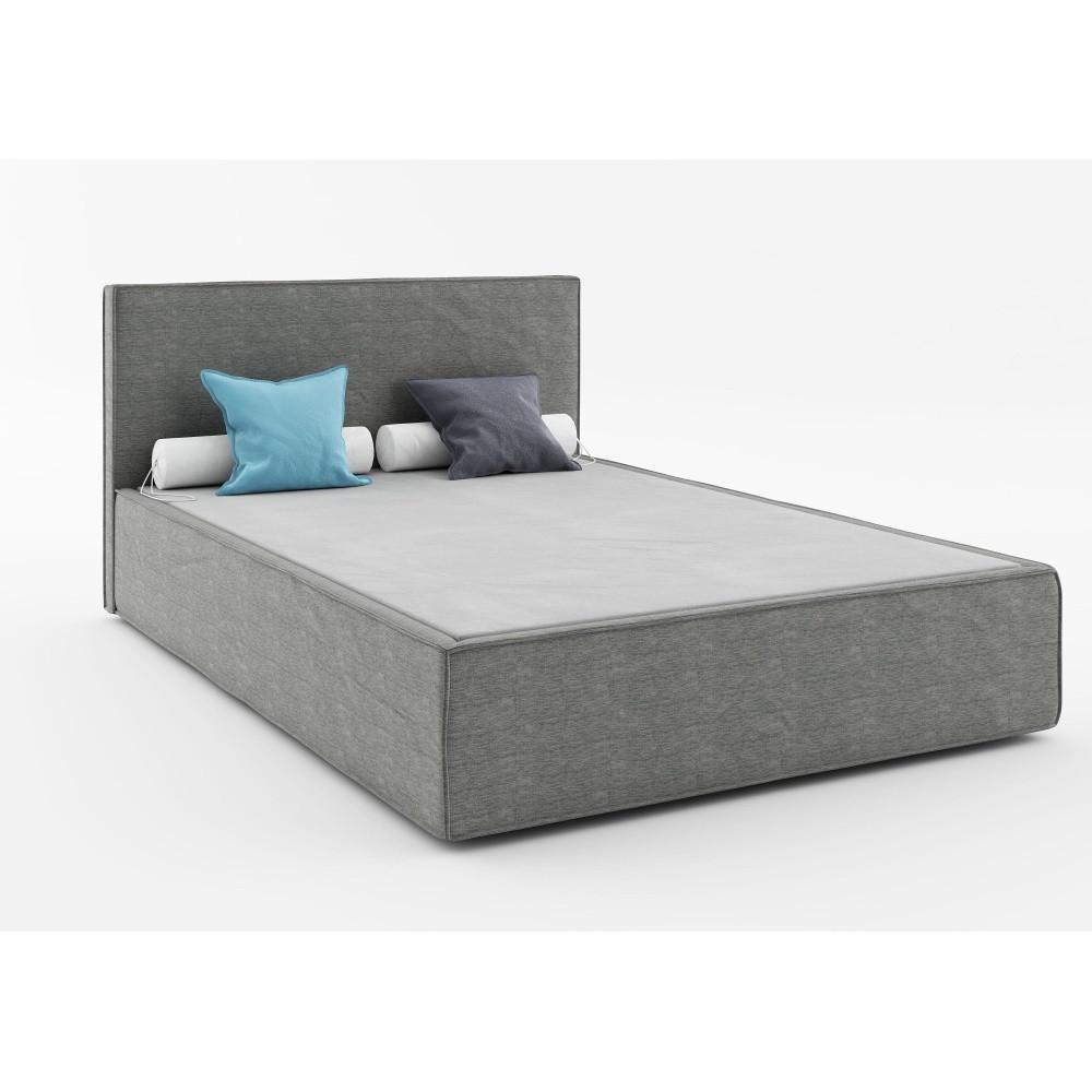 Tmavosivá dvojlôžková posteľ Absynth Mio Soft, 160x200cm