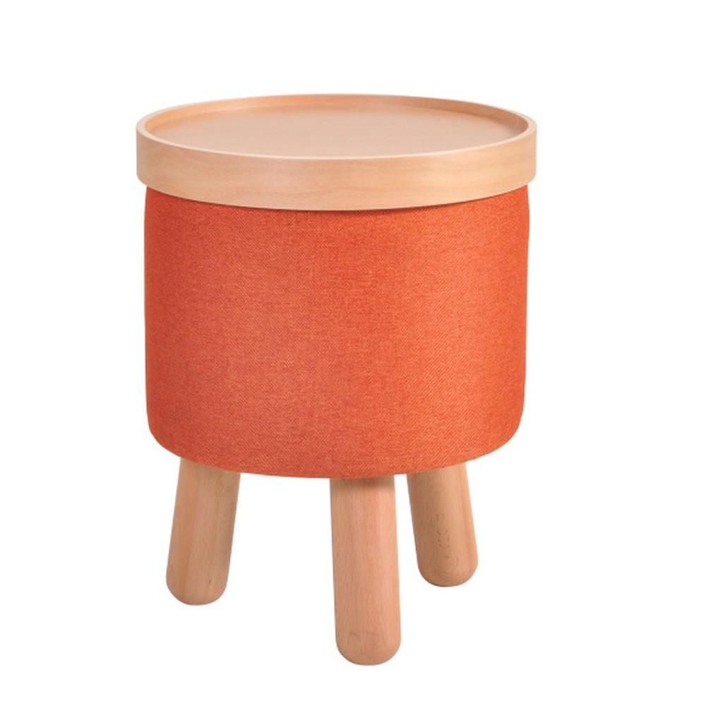 Oranžová stolička Garageeight Molde s odnímateľným vrchom, veľkosť S