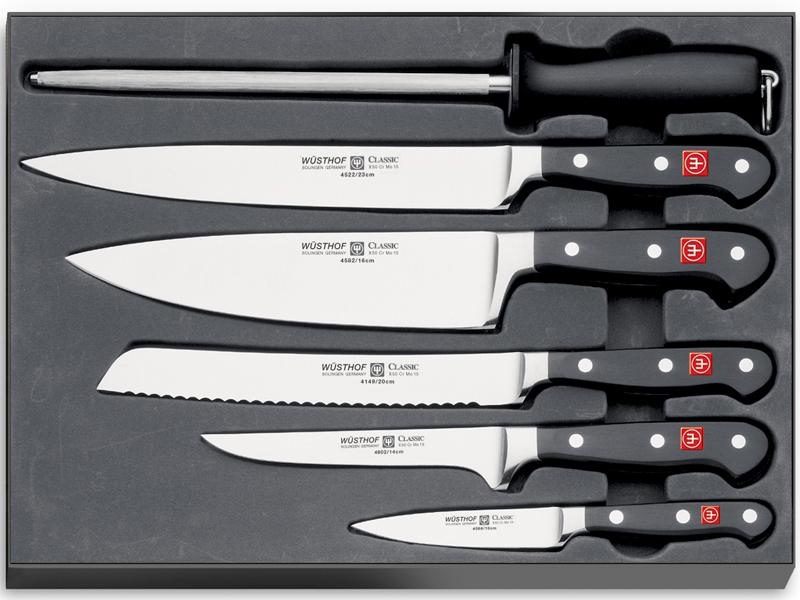 Sada nožov s ocieľkou Classic Wüsthof 6 ks