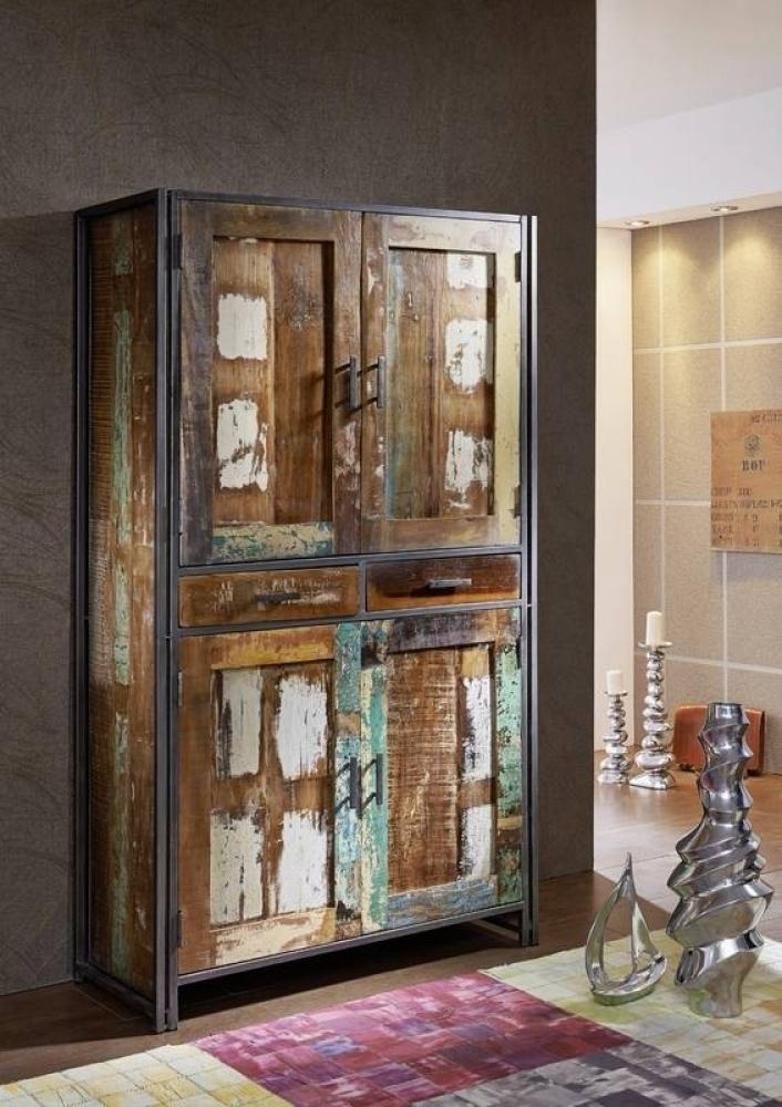 NEW YORK skriňa #13 staré lakované indické drevo/kov