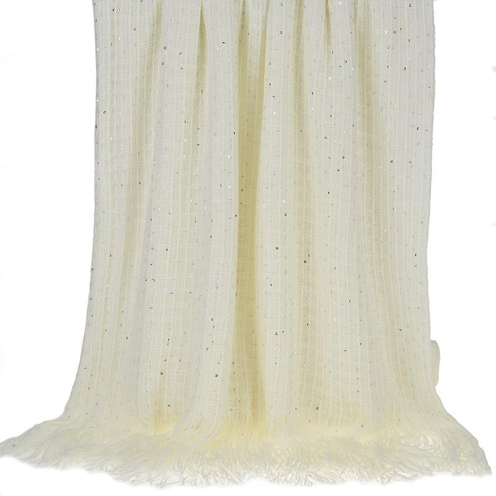 Pletený pléd cez posteľ InArt Ivory Bringes, 130 x 150 cm