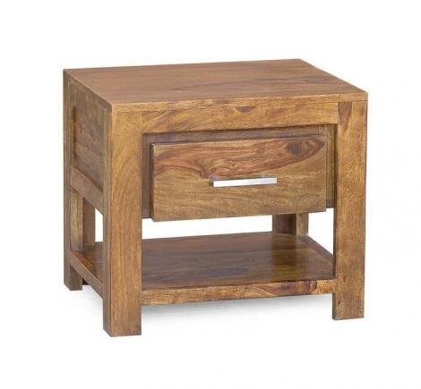 Bighome - DAKOTA Masívny nočný stolík, indický palisander