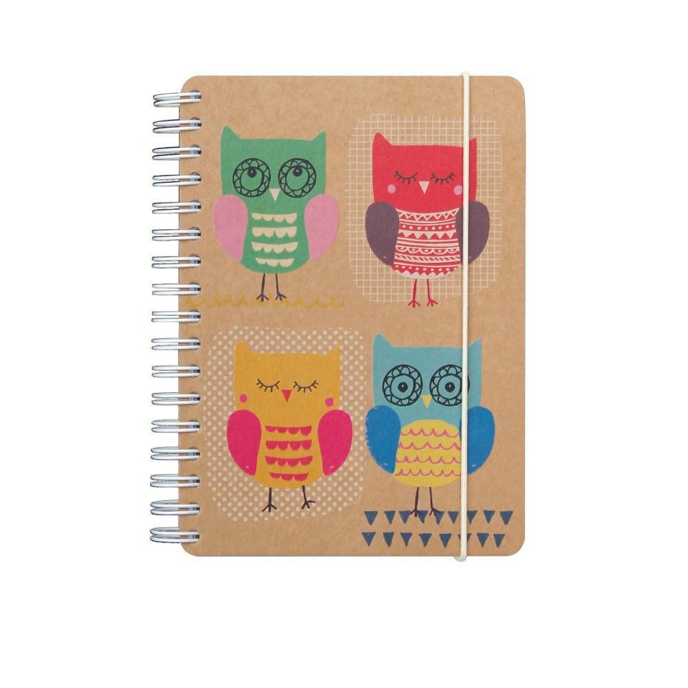 Zápisník A6 GO Stationery Owls Kraft