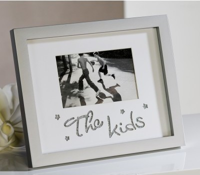 Fotorámik THE KIDS - strieborná/biela
