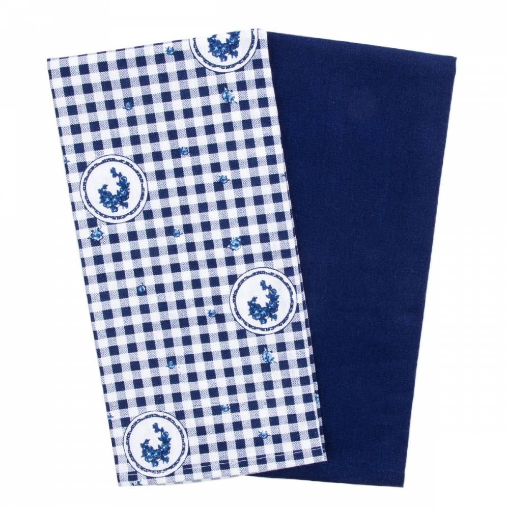 Trade Concept Kuchynská utierka Elegant kocka modrá,  50 x 70 cm, sada 2 ks